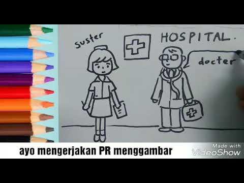 Tutorial Cara Menggambar Dengan Tema Profesi Dokter Dan Perawat