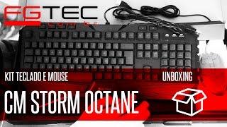 Unboxing Kit Teclado e Mouse Cooler Master Octane [PT-BR]