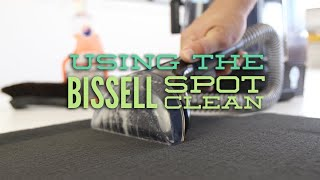 Carpet cleaning with the Bissell Spot Clean and our Aussie car care products.