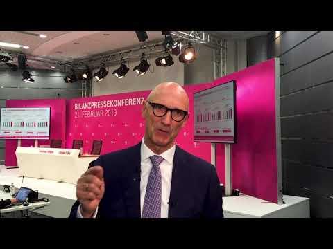 Social Media Post: Tim Höttges zu Geschäftszahlen Deutsche Telekom 2018