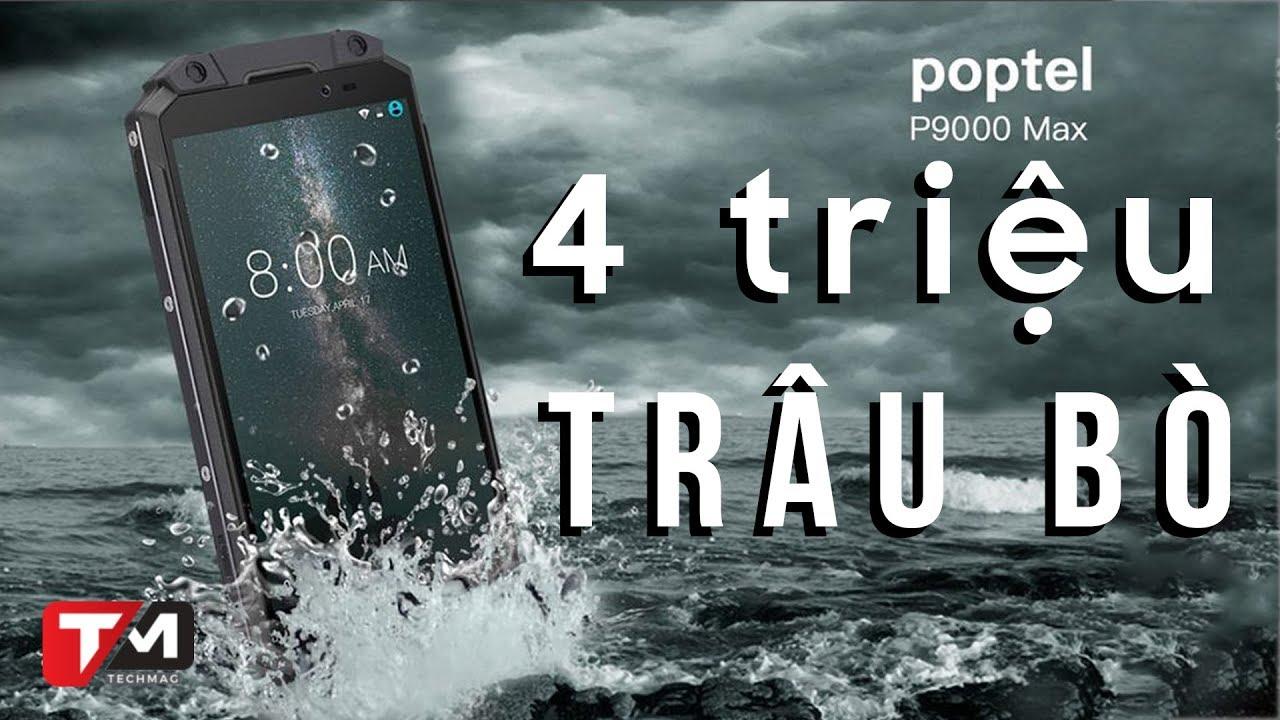 Điện thoại siêu bền, pin 9000mAh, giá 4 củ