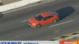 A Stolen Car High Speed Police Chase in USA March 2019