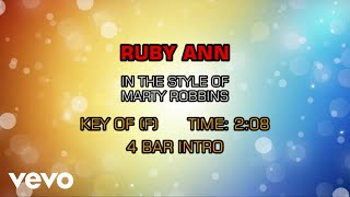 Marty Robbins - Ruby Ann (Karaoke)