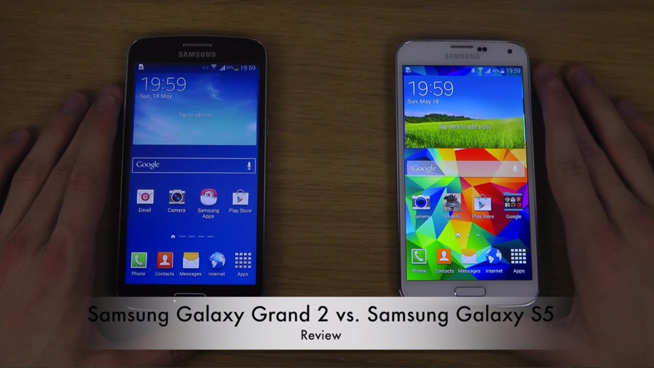 samsung galaxy grand 2 vs samsung galaxy s5 youtube. Black Bedroom Furniture Sets. Home Design Ideas