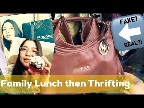 Lunch Then Thrifting! | DKNY, PANDORA BAGS | Vlog