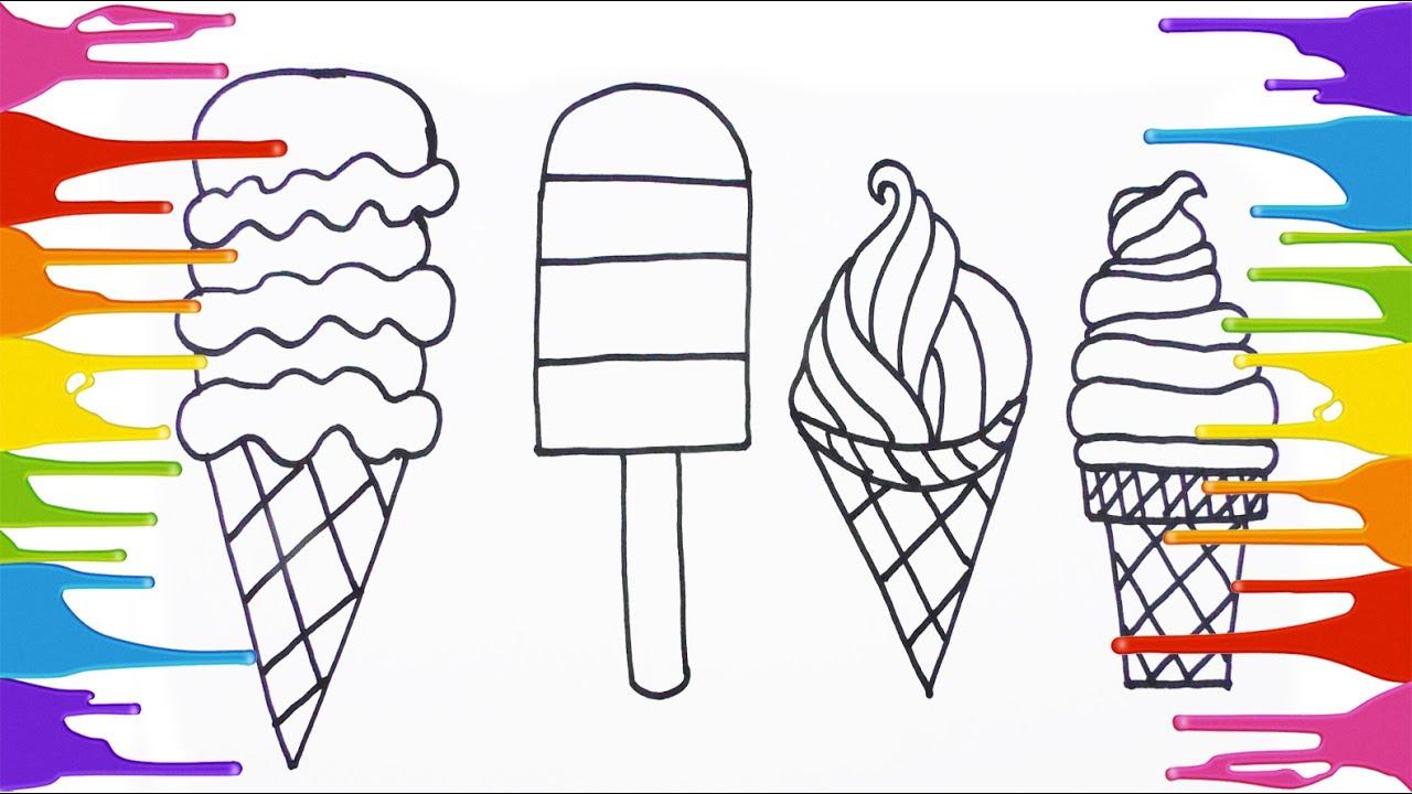 Cómo Dibujar y Colorear Helados - Arte y Colores Para Niños - Learn ...