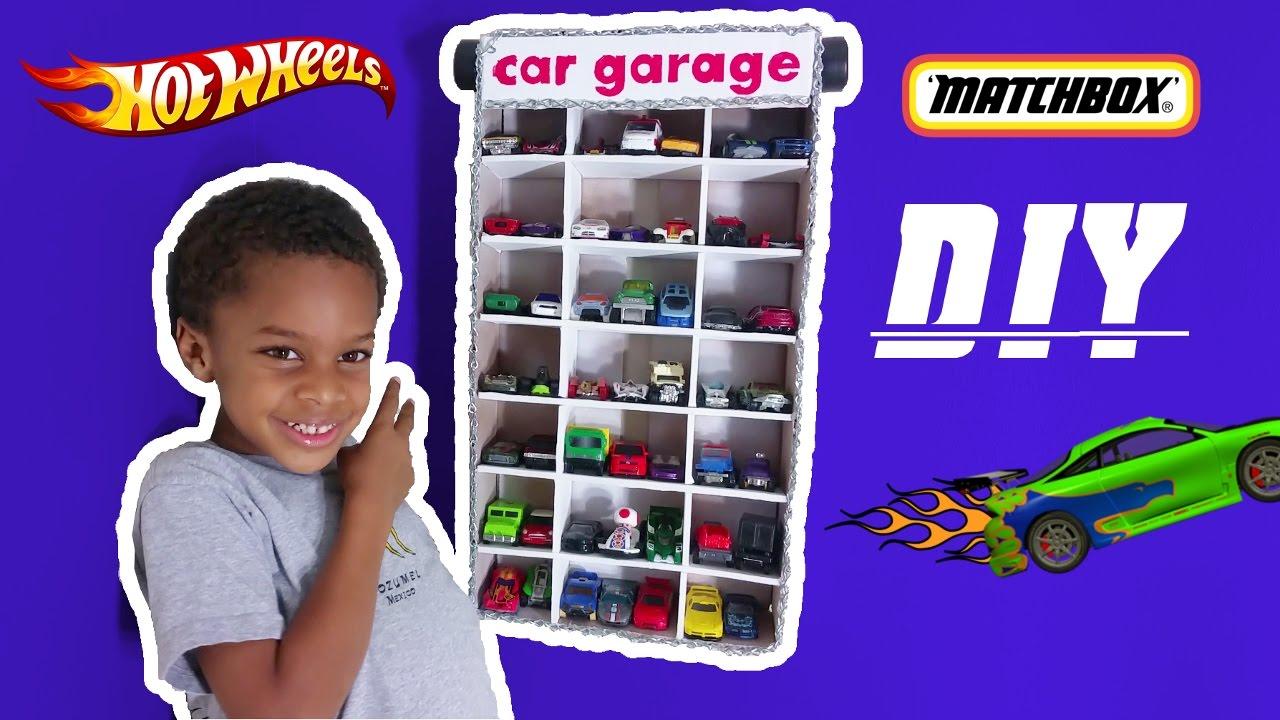 DIY HOT WHEELS MATCHBOX TOY CAR GARAGE
