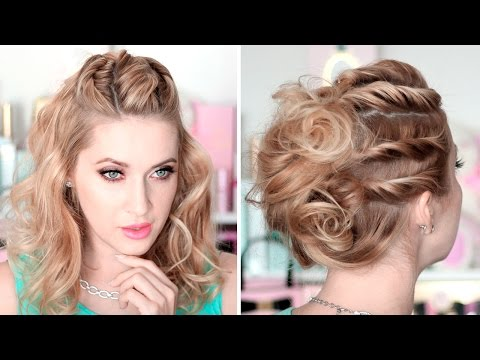 tuto coiffure de soir e mariage chignon cheveux mi longs facile faire soi m me. Black Bedroom Furniture Sets. Home Design Ideas