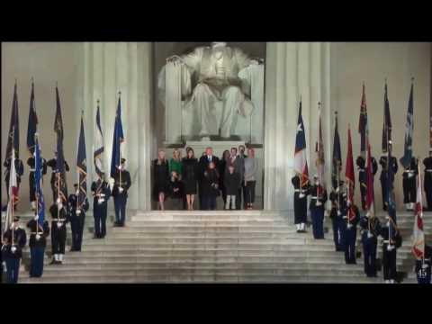 Glory, Glory Hallelujah Fireworks, President Trump at Lincoln Memorial