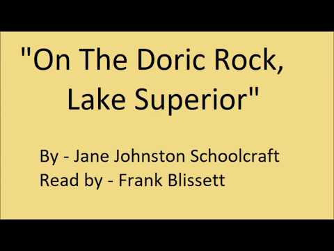 """On The Doric Rock, Lake Superior"" by Jane Johnston Schoolcraft"