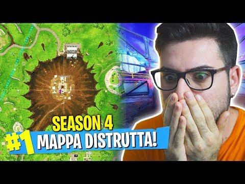 VISITIAMO IL LUOGO DELL'IMPATTO! MAPPA DISTRUTTA!! - Fortnite SEASON 4