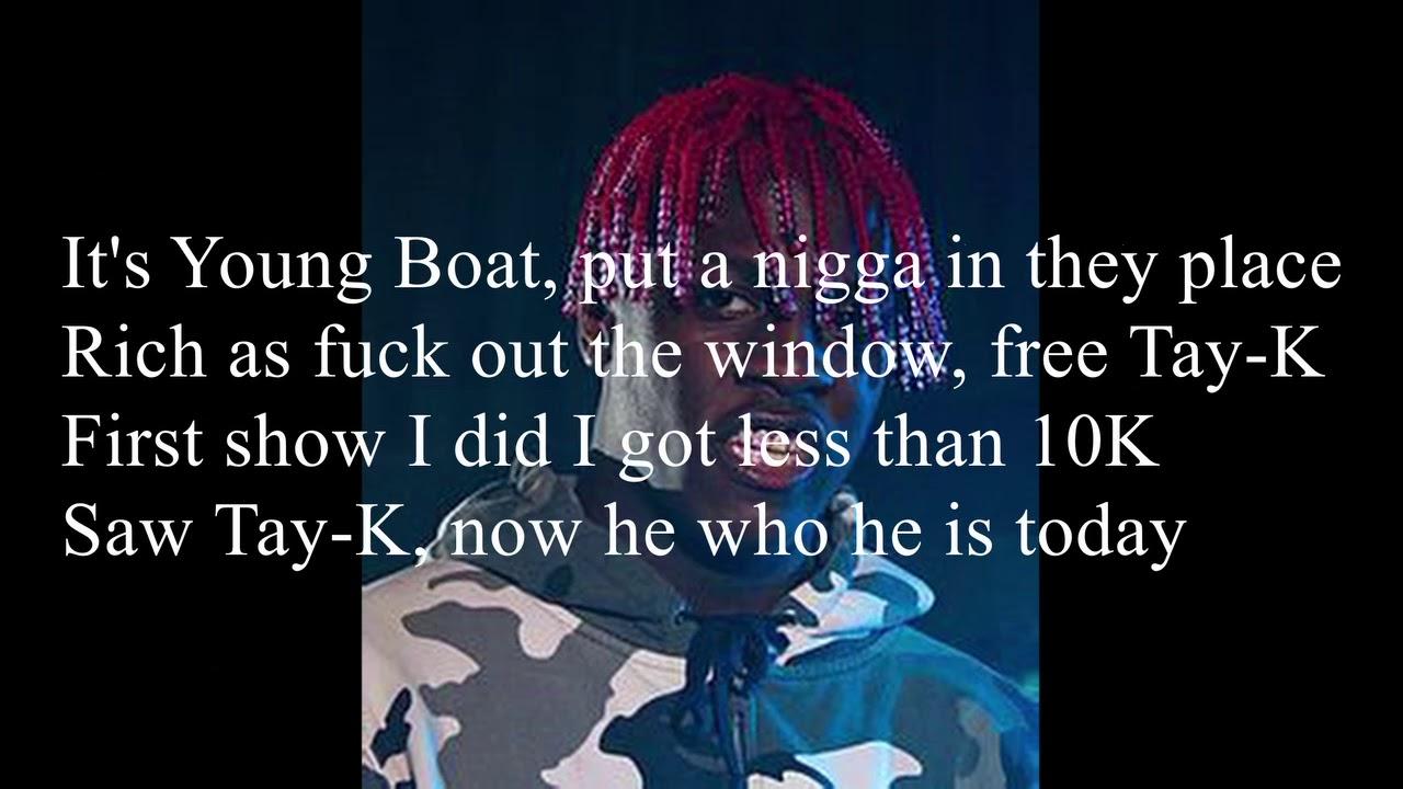 Lil Yachty - The Race Free Tay-K Freestyle (Lyrics)