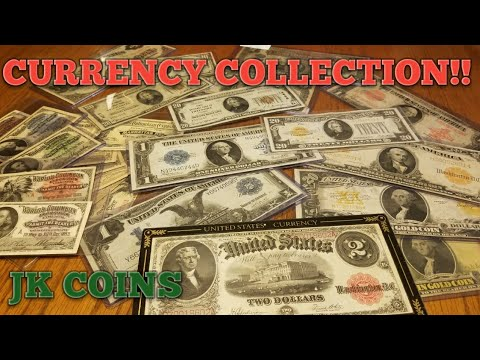 CURRENCY COLLECTION! Silver Certs, Gold Certificates, Large
