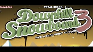 Downhill Snowboard 3 Full Gameplay Walkthrough