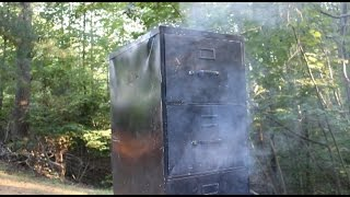 How to build a smoker barbecue from a file cabinet
