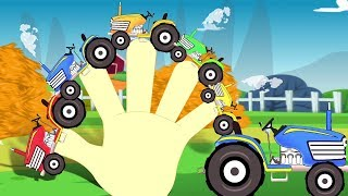 tractor dedos Familia   aprender agrícolas vehículos   dedos Familia canción   Tractor Finger Family