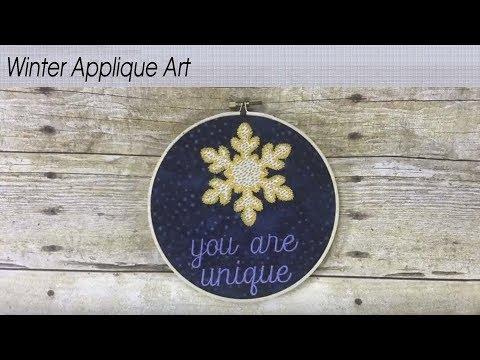 Winter Applique Art Created By Julie Fei-Fan Balzer
