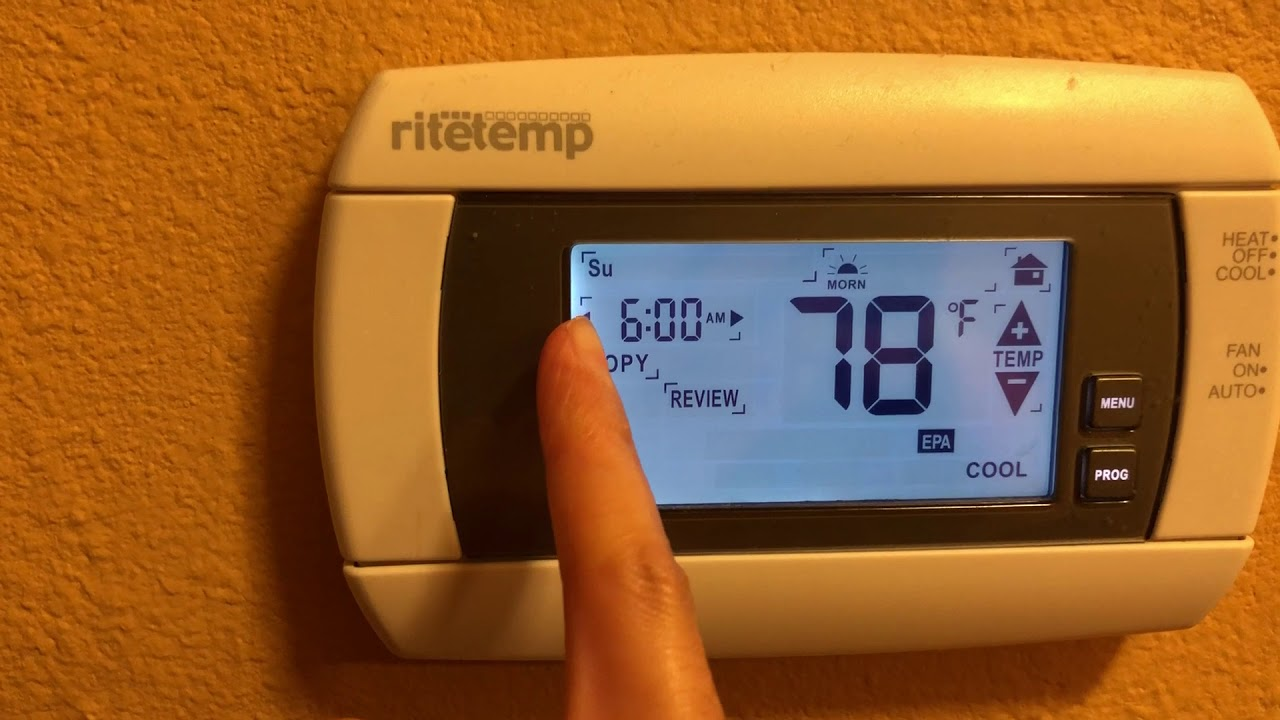 ritetemp thermostats guide