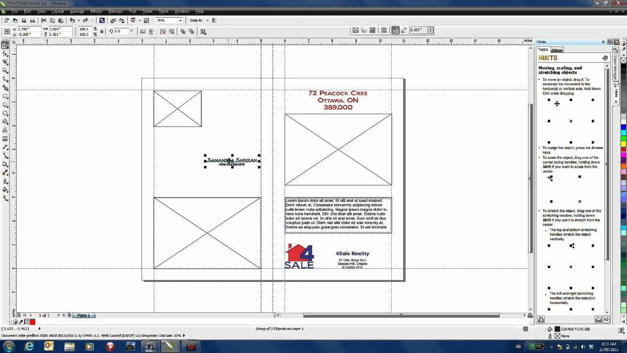 Creating a marketing brochure template in coreldraw for Coreldraw brochure templates