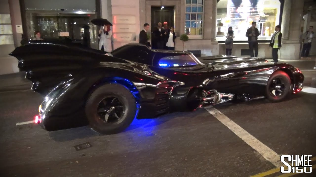 The Batmobile Arrives In London Replica Car On The Road