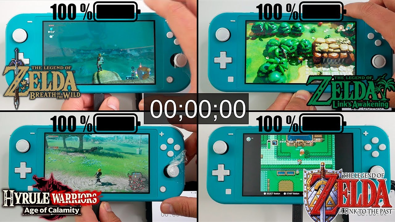 Battery Life of Zelda Games on Nintendo Switch LITE Edition