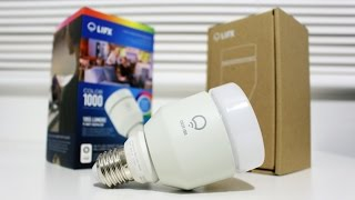 LIFX Color 1000 Wi-Fi LED Smart Bulb Unboxing & Setup!