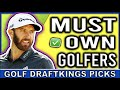 Travelers Championship DraftKings DFS MUST OWN Picks | DFS Golf Picks