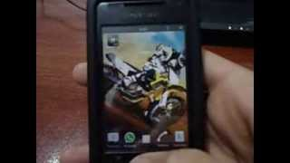 Sony Ericsson Xperia X8 con Android 2.3.7 Gingerbread