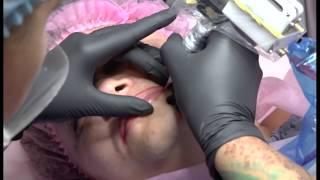 Перманентный макияж губ в технике Pixelspraying (часть 1)