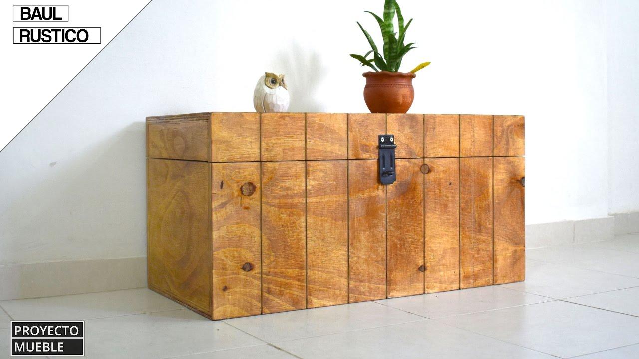 Como hacer ba l rustico rustic trunk youtube - Como hacer un altillo de madera ...