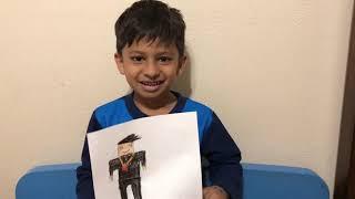 Jahanzaib spiega il suo disegno Roblox