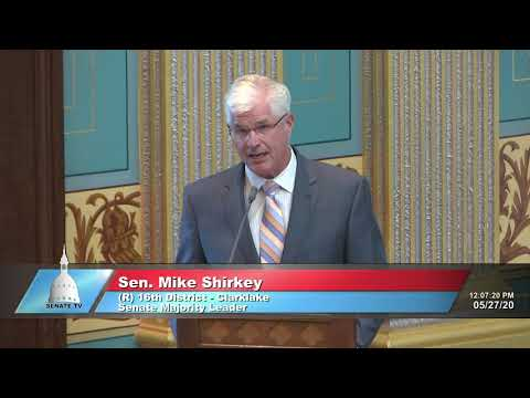 Sen. Shirkey Addresses The Senate On Gov. Whitmer's Lie