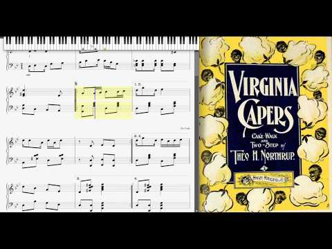 Virginia Capers by Theo Northrup (1899, Ragtime piano)