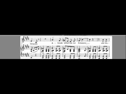 Lachen und Weinen Accompaniment Franz Schubert Low Voice E#