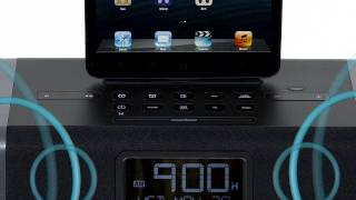 iHome iDL45 iPL10 Dual Charging Stereo FM Clock Radio with Lightning Connector