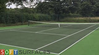 Cleaning and Painting Tennis Surface in York, Yorkshire | Sports Court Cleaning Services