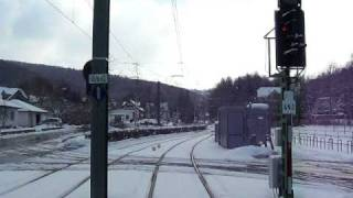 Streckenabschnitt Linie 4 DRK Ri. Helsa