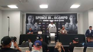 Savage!Errol Spence says he wud of carried OCampo if he got up