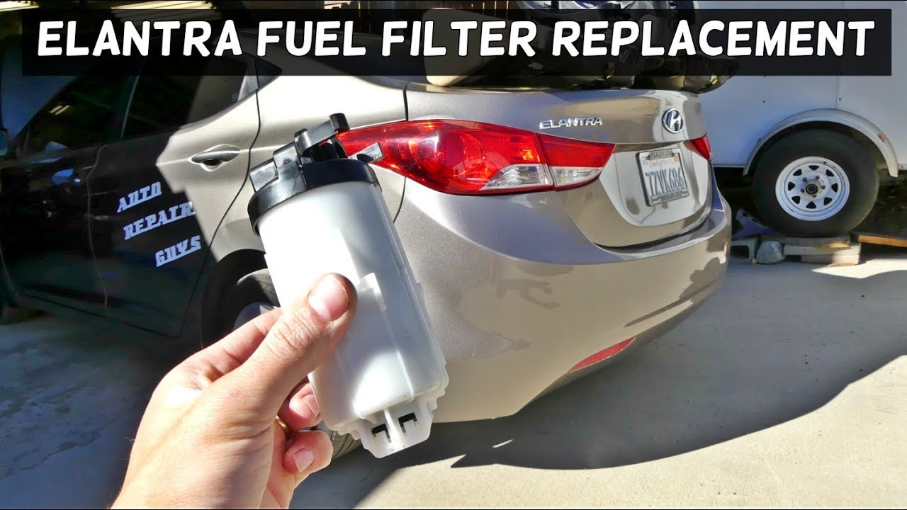 How To Replace Fuel Filter On Hyundai Elantra Youtube