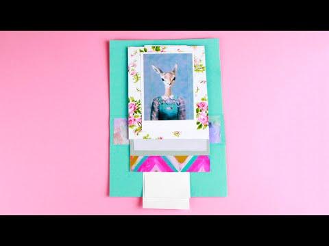 Как сделать открытку-водопад своими руками