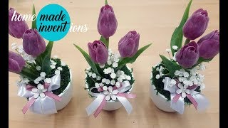 How to make a beautiful tulip decoration - homemade inventions 1/2019