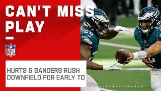 Hurts & Sanders Speed Downfield to Grab Eagles TD