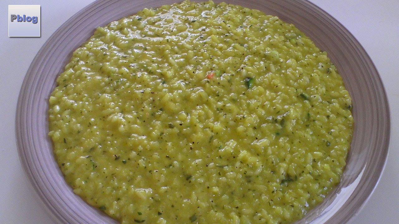 risotto alla milanese con zucchine bimby tm5 - youtube
