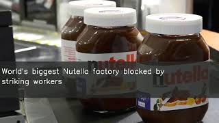World's biggest Nutella factory blocked by striking workers