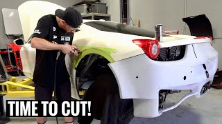 Ferrari GT3 458 Widebody Install! [Part 4]