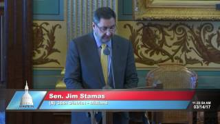 Sen. Stamas  honors Chemical Bank on their 100th Anniversary