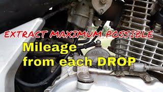 Carburetor setting for maximum possible mileage.