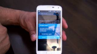 how to use privacy mode on the galaxy s5