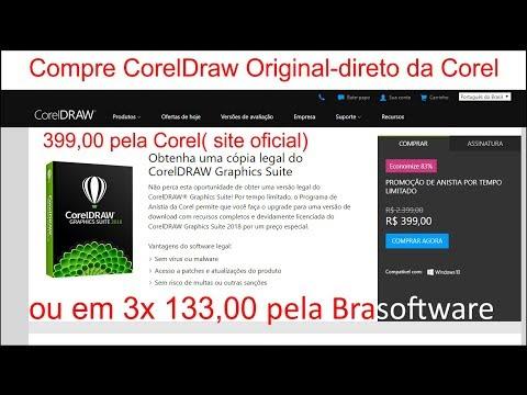 Como comprar o  CorelDraw 2018 por 399,00 - Direto da Corel, ou em 3 x133,00 do revendedor