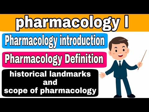 Introduction Of Pharmacology- Definition, Historical Landmarks And Scope Of Pharmacology In Hindi